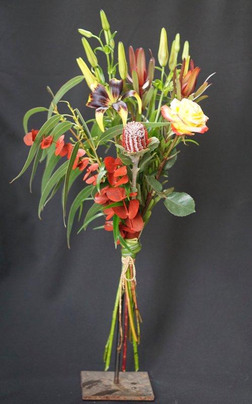 Egzotinių gėlių puokštė