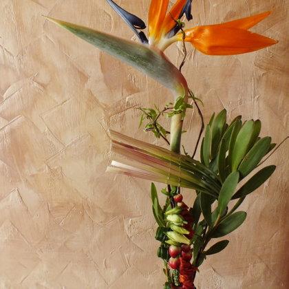 Vienos gėlės dekoras